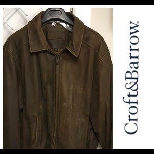 MENS Croft & Barrel Leather coat butter soft